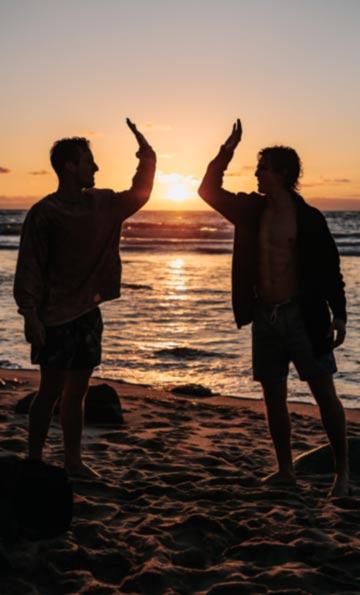 Beach celebration and hope